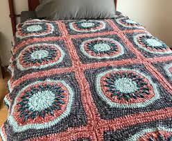 Crochet Center Burst Afghan Pattern