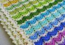 Crochet blanket zig zag point