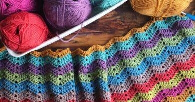 Chevron Granny Blanket Pattern
