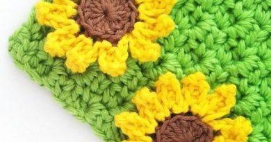 Small Sunflower Applique